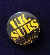 UK subs 25mm Original vintage punk badge