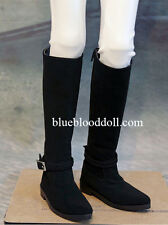 1/3 bjd SD13 SD17 doll black color suede long boots super dollfie luts ship US