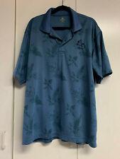 "Mens Black Diamond Head Wear ""Wailea""  Golf Polo 2 XL ~ EUC ~ Blue/teal print"