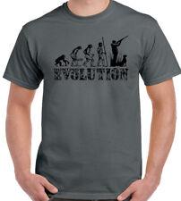 Jagd T-Shirt Herren Evolution Lustig Jagd Hunter Ton Taube Jagd Ziel Pistole