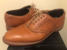 ALLEN EDMONDS HONORS COLLECTION First Cut Brown Leather Golf Shoes MENS 11D USA
