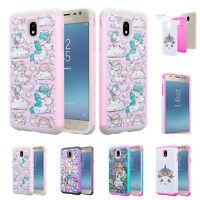 For Samsung Galaxy J3 Achieve, J3 Aura Case, Slim Rhinestone Bling Hybrid Cover