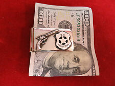 Money Clip: Sterling U.S. Marshal with Six Shooter.