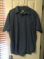 Men's Cabela's Short Sleeve Button Up Shirt Size L Poly-Cotton Shirt Size Large