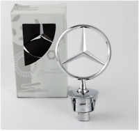 Star Bonnet Badge Logo All Chrome fit Mercedes Benz W211 S211 E-Class 06-09