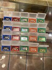 Pokemon Emerald Fire Red Ruby Leafgreen, Nintendo Gameboy Advance Lot Of 20