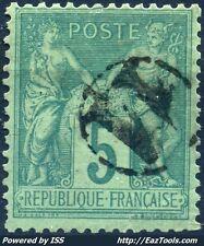 FRANCE TYPE SAGE N° 75 BELLE OBLITERATION JOUR DE L'AN ENCERCLEE N° 11 A VOIR