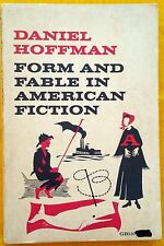Form and Fable in American Fiction Daniel Hoffman FREE AUS POST paperback 1965