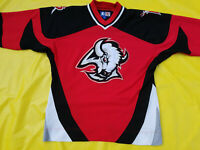 Buffalo Sabres Jersey Red Mens Medium rare retro Starter M Goat head NHL