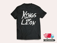 New KINGS OF LEON Men's Black Tee Rock Band Logo T-Shirt Size S - 5XL Ships Free