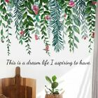 Pvc Tropical Green Plants Wall Sticker Decal Home Decoration Wall Stickers