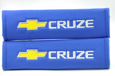 New Embroidery Blue Seat Belt Cover Shoulder Pads Pair For Chevrolet Chevy Cruze