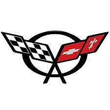 """Chevrolet Corvette C5 Vinyl Decal With Flag 3 1/4 """" x 1 1/2 """"Free Shipping 97-04"""
