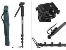 Photography Monopod & Fluid Pan Head & Unipod Holder For DSLR Camera