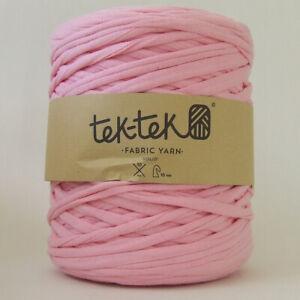 T-SHIRT YARN Warm Pink New Large Ball Cotton Knit Crochet Weave 130m