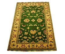 Real Rug Brick Manufacture 180x120 Cm 100 Wool Hand Knotted Green