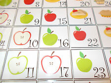Apple themed Calendar Squares.  Classroom supplies and accessories. Preschool.