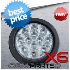 6x - TRUCK TRAILER CUSTOM CLEAR LED LIGHT BRAKE TURN TAIL TAILIGHT 12v BRAND NEW