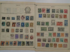 BRAZIL COLLECTION ON PAGES MH/USED STAMPS