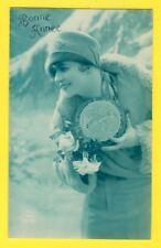 Carte Postale Rétro BONNE ANNÉE de Marie SEULIN à Louise LEMAIRE à LE TRANSLAY