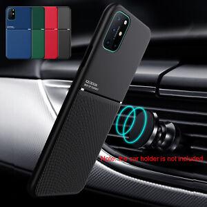 For OnePlus Nord 7 7T 8 8T Pro Case Magnetic Matte Slim Carbon Fiber Back Cover