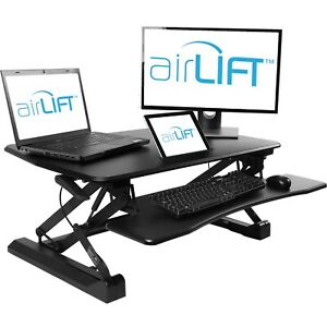 Seville Classics airLIFT PRO Pneumatic Desk Riser Sit to Stand-Hight Adjustable