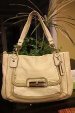 Coach Kristin Spectator Leather East West Zip Tote Bag 16810 Beige (PU190