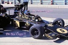 RONNIE PETERSON LOTUS JPS 72E Gran Premio di Spagna 1975 fotografia 1