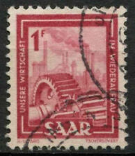 Saar 1949-51 SG#266, 1f Heavy Industries Definitive Used #A81210