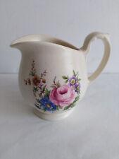 More details for vintage axe vale poottery devon england floral milk cream jug 1/5 pt