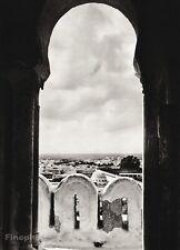 1934 Vintage TUNISIA Kairouan Architecture Landscape Photo Art ~ HURLIMANN 11x14