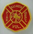 Nazareth, PA Volunteer Fire Dept Shoulder Embroidered Patch -new