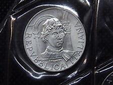 1992 ITALIA MONETA FIOR DI CONIO FDC BU 500 LIRE ARGENTO PIERO DELLA FRANCESCA