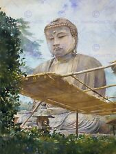 PAINTING BUDDHA ASIA TEMPLE 12 X 16 INCH ART PRINT POSTER PICTURE HP2298