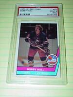 PSA MINT 9 (mc) : 1977 O-Pee-Chee BOBBY HULL - NHL WHA Hockey Card #50