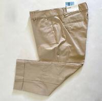 NWT Ann Taylor Factory Women's Petite Beige Khaki Ankle Crop Slim Pants 12P 14P