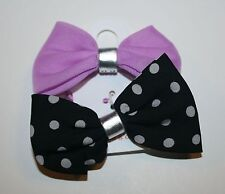 New Gymboree Posh and Playful Line Pony Holder Purple Bow Two-Pack 2 Ponytail