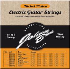 SET OF SIX ELECTRIC GUITAR STRINGS - LIGHT/REGULAR GAUGE