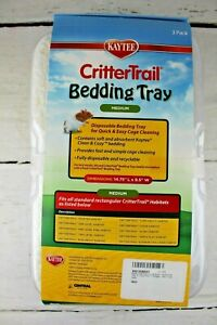 Kaytee Critter Trail Bedding Tray Habitat Easy Cage Cleaning 3 Pack 14.75 x 9.5""