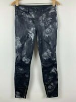 Guess Brittney Legging Womens Pants Size 27 Floral Gloss Pattern Slim Fit