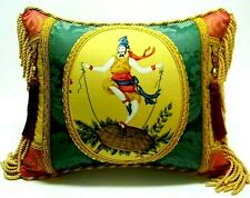Scalamander fabric. Collectible Luxury Designer accent Pillow W /insert