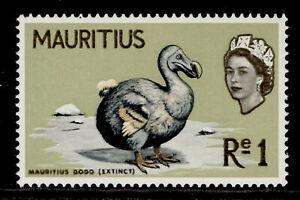 MAURITIUS QEII SG328, 1r light yellow-olive, NH MINT. Cat £12.