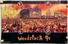 Blind Melon Shannon Hoon Slash Santana Woodstock 94 JSA Signed Autograph Poster