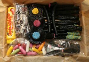 Liquorice Gift Sweet Box Personalised Sherbet Fountain Wands Wheels Black Jacks