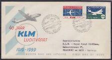 Niederlande FDC 737 - 738 Flugpost 40 Jahre KLM mit SST S-Gravenhage 1959
