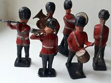Set Of 6 old Lead Marching Band Toy Soldiers, each Playing Different Instruments