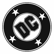 DC oldschool skateboard logo car decal sticker