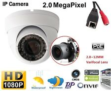 4X Zoom Auto Iris Varifocal Motorized Lens IR 40m 2MP Dome Security IP Camera