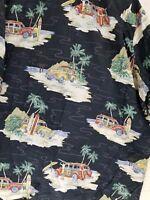 Hilo Hattie Hawaiian Aloha Shirt Men 5XL Palm Surf Beach Festival Cool Print 90s