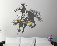 Wall Decor Decal Sticker Removable Cowboy Rode Horse DC047 Large size